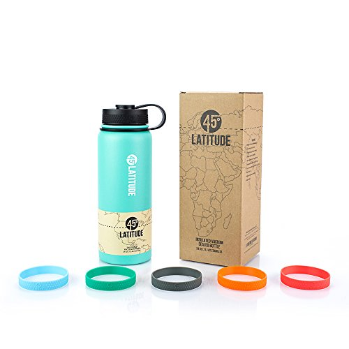 tainless Steel Insulated Vacuum Sealed Water Bottle, 24-Ounce, Celeste Green ()