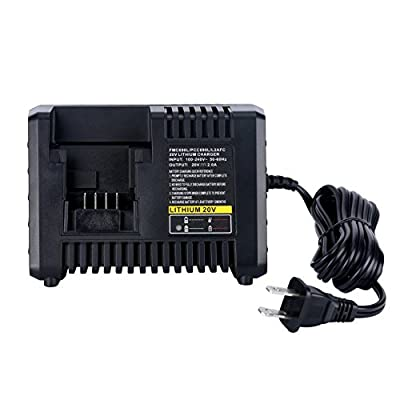 Biswaye 20V Lithium Battery Charger BDCAC202B for Black and Decker Porter-Cable & Stanley 20V Lithium-ion Battery