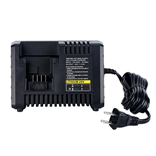 Biswaye 20V Lithium Battery Fast Charger BDCAC202B for Black and Decker 20V Lithium-ion Battery and Porter-Cable 20V Lithium-ion Battery LBXR20 LBXR2020 LB2X4020 PCC685L PCC680L PCC681L LST220
