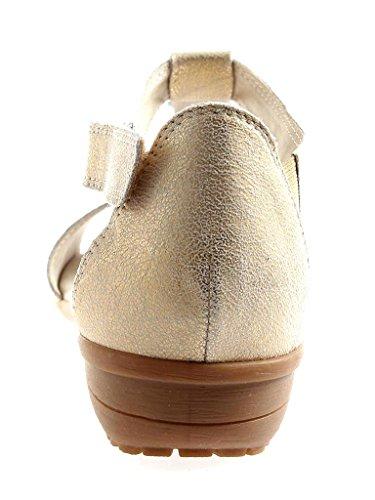 Caprice Sandali Scarpe Donna 9-28661 Pelle Luminoso Oro