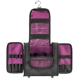 Large Hanging Travel Toiletry Bag - For Women Cosmetic Makeup Organizer And Men Shaving Kits