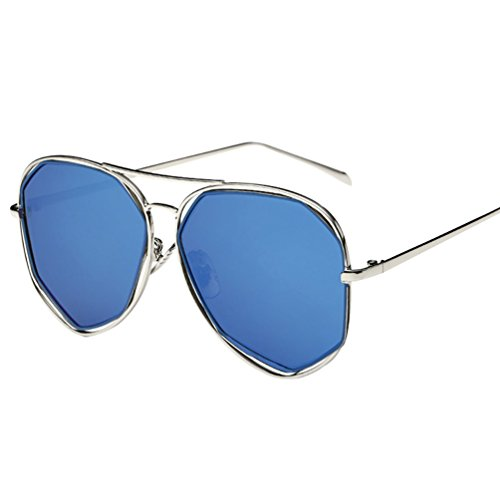 Aviador Moda YAANCUN Con UV400 Gafas Azul Antirreflejante Sol De De Mujer Lente Retro SqBnwqIZP