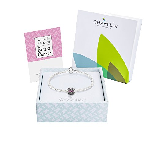 Chamilia Authentic, Sterling Silver Give Back Breast Cancer Gift Set 4011-0740