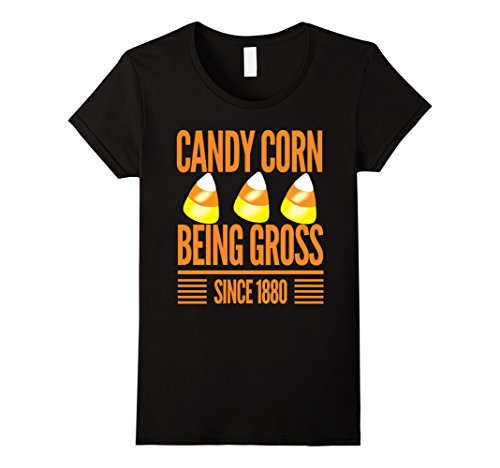 Womens Candy corn...being gross since 1880 funny Halloween t-shirt XL (Halloween 1880)