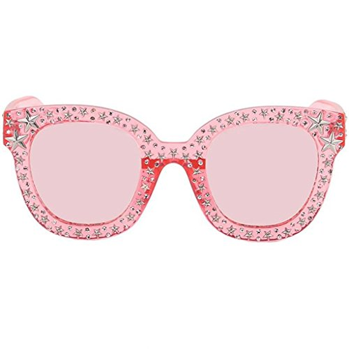 Large Cat Eye Sunglasses For Women Fashion Designer Acetate Frame With Stars Diamond Rhinestone Fancy Oversized - Flair Frames Eyewear