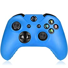 Flexible Silicone Protective Case skin For Xbox One Game Controller Console(Light Blue)