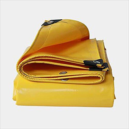 Hyzb Gelbe Sonnenschutz-Plane-im Freienwaren-Abdeckungs-Tuch Doppelseitiges wasserdichtes (größe   2X 3m)