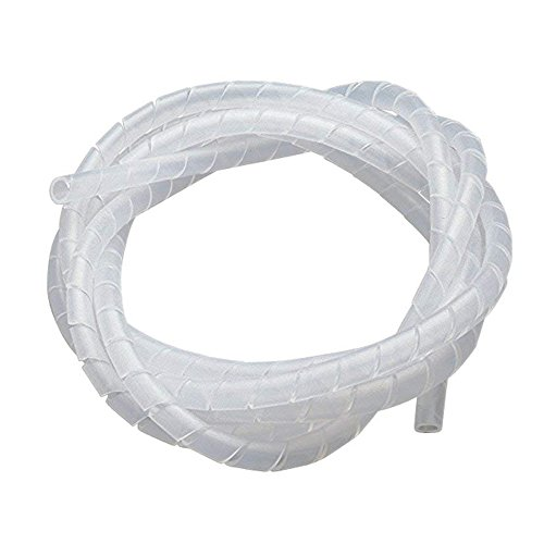 Karcy Dia 6mm Length 18M Spiral Wrapping Band Cable Organizer Wrap for PC Wires ()
