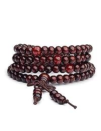 Bracelets 108 Beads 6mm Natural Sandalwood Buddhist Buddha Wood Prayer Men Bracelets