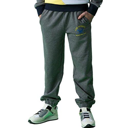 - Leo&Lily Big Boys' Sports Fleece Husky Waist Pants Joggers Trousers (Darkgray, 14)