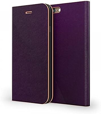 Estuche protector de la carcasa de libro Mozo para Apple iPhone 6, Púrpura, Coral: Amazon.es: Electrónica