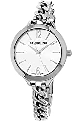 Stuhrling Original Women's 624M.01 Vogue Swiss Quartz Stainless Steel Link Bracelet Watch