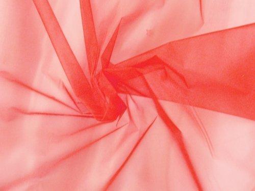 Sparkle Organza Fabric (Sparkle Organza Fabric - Red, 60