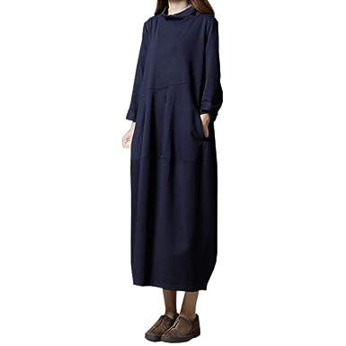 Sylar Vestidos Larga De Fiesta Mujer Moda Simple Color Sólido ...