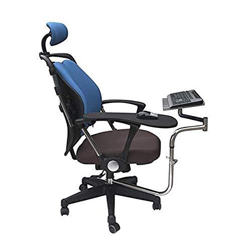 Bandeja para Mouse y Teclado de Silla de Oficina, Soporte ergonomico para computadora portatil/Teclado/Mouse, Escritorio con Todas Las Funciones, para Estaciones de Trabajo/Videojuegos/etc.