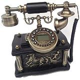 Ancien téléphone rétro à combiné téléphonique rétro tetraflor design 13