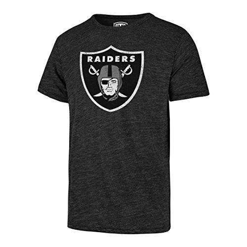 Raiders New Shirt Oakland Mens (OTS NFL Oakland Raiders Men's Triblend Distressed Tee, Jet Black, Medium)