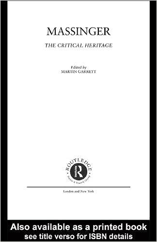 Massinger (Critical Heritage Series)