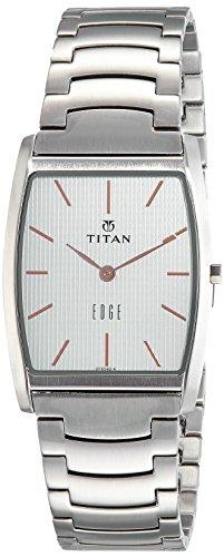 Titan Edge White Dial Analog Watch For Men - 1044SM16 ()