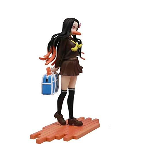 Py Demon Slayer: Kamado Nezuko (Schuluniform 2.Ver) Action-Figur Statue Modell-Geschenk-Spielzeug Dekorationen Kimetsu keine Yaiba Puppe Ornamente