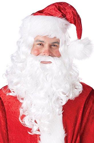 Santa Claus St. Nicholas Costume Wig and Beard - St Nicholas Costume