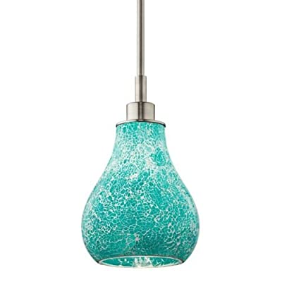 Kichler 65408 Crystal Ball Single-Bulb Indoor Pendant with Teardrop Glass Shade,