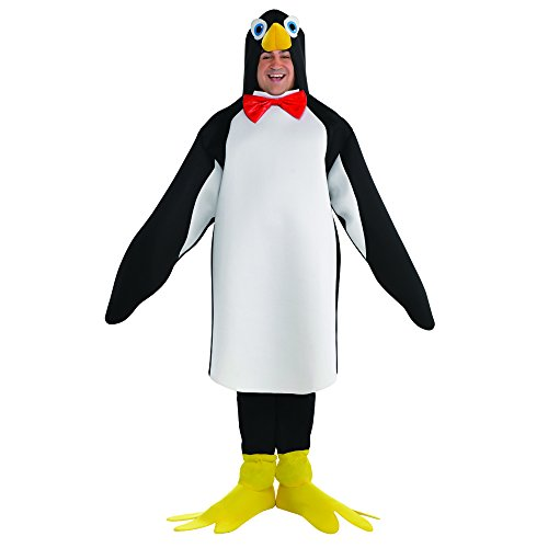 LEEGEEL Penguin Costume Adult Men Plus Size (Incl Costume,PU Nose,Boot Covers)