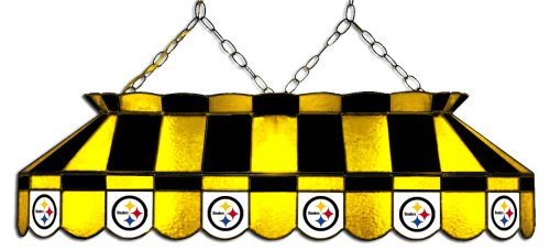 Pittsburgh Glass Stained Lamp (Imperial Officially Licensed NFL Merchandise: Tiffany-Style Stained Glass Billiard/Pool Table Light, Pittsburgh Steelers)