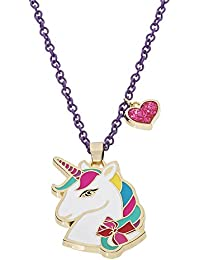 """Unicorn With Heart Charm Pendant Necklace, 16""""+3"""""""