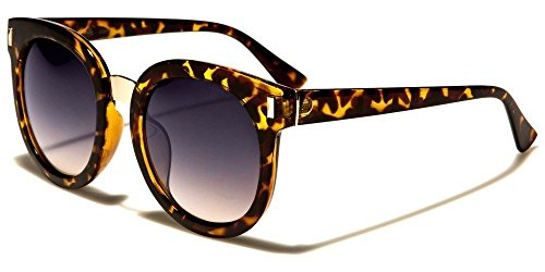 Tortoiseshell Gray Lens Thick Round Vintage Shaped Women'S Designer Sunglasses (559 Glasses)