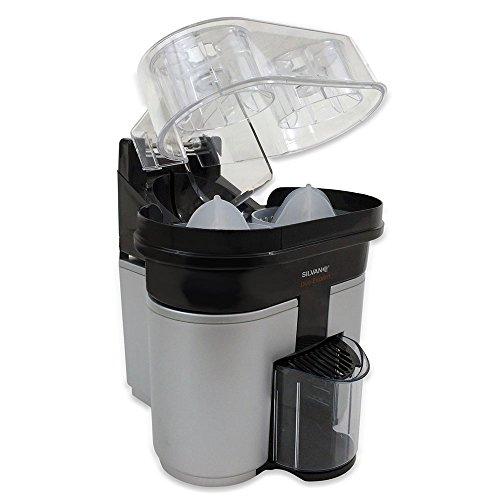 Exprimidor eléctrico con cortador y doble cono de exprimido DUO EXPRIM (Gris metalizado): Amazon.es: Hogar