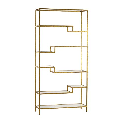 Artistic Upscale Luxe Shelving Unit, Gold/Mirror by Artistic