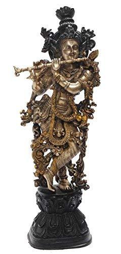Statuestudio Krishna Brass Idol with Flute