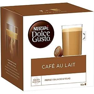 Nescafé Dolce Gusto Café au Lait – Café – 48 Capsules (Lot de 3 boîtes x 16)