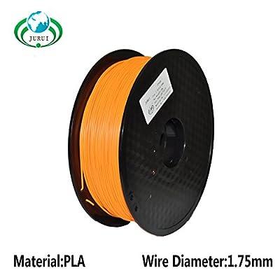 JURUI 3D Printing Filament PLA 1kg 1.75 Orange 3d printer filament, Dimensional Accuracy +/- 0.05 mm, 1 kg Spool(2.2 lbs), 1.75mm