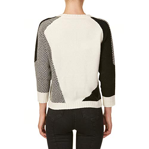 Wwmag1737pw068705 Donna Maglia nero Bianco Lana Woolrich EUHancqq