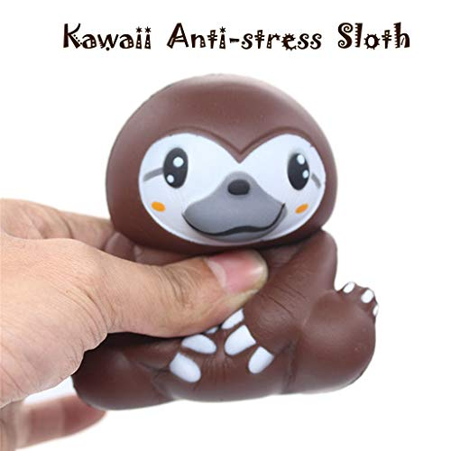 (LtrottedJ Adorable Squishies Soft Sloth Slow Rising Fruit Scented Stress Relief Toys Gifts)