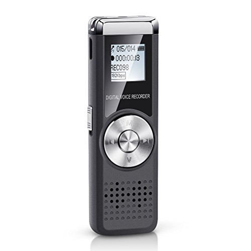 Jadeke Voice Recorder 16GB Digital Voice Device Audio Sound Activated Recorder USB Rechargeable Mini Recording Microphone Dictaphone Voice Recorder for Lectures Meetings with MP3 Player by Jadeke