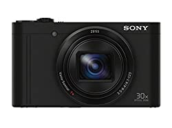 Sony Dscwx500b Digital Camera With 3-inch Lcd (Black)