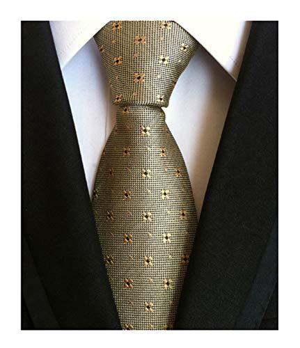 Designer Skinny Ties - Men Bronze Necktie Vintage Floral Silk Cravat Woven Leisure skinny Designer Ties