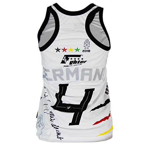 tanktop White 2018 4fighter Chicas Cup Alemania Mujeres World qF7FYZx
