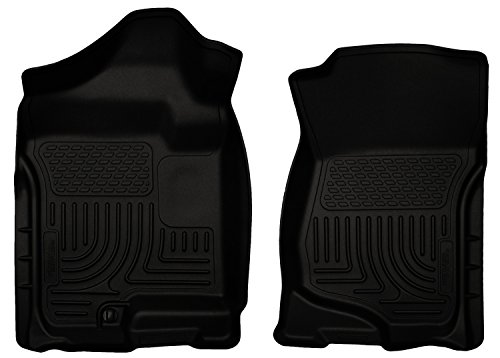 (Husky Liners Front Floor Liners Fits 07-13 Silverado/Sierra Crew/Extended Cab)