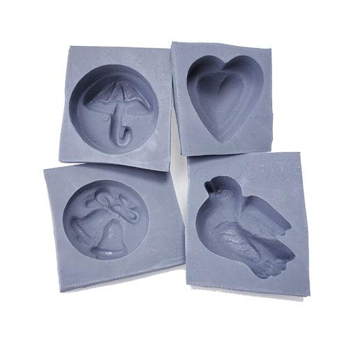Wedding Rubber Molds, 4/pk - Mint Mold
