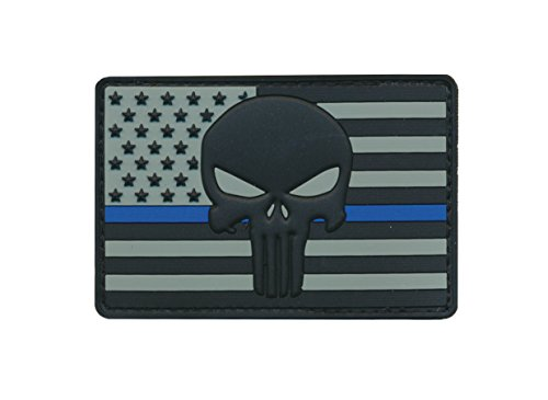 Patch Squad Men's US Flag Punisher Embroidered Patch