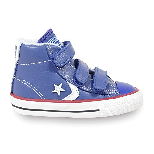 Converse Star Baskets 3V mixte enfant mode Mid Bleu Player Leather R1wR7qAO