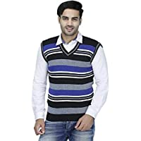 "ZAKOD Sleeveless Slim Fit Multicolor Sweater for Men,Purely Wool Sweater,Formal Use Sweater, M=38"",L=40"",XL=42"""