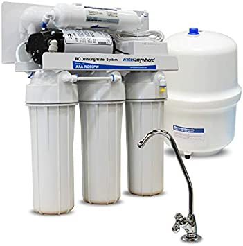 Home Drinking RO Reverse Osmosis Water Filtration System Pressure Booster Pump
