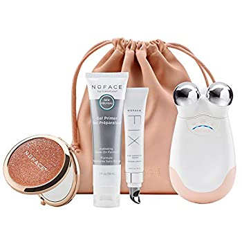 Image of NuFACE Advanced Facial Toning Kit, Shimmer All Night Collection, Trinity Facial Trainer Device + Microcurrent Skincare Regimen, Skin Care Device to Lift Contour Tone Skin + Reduce Look of Wrinkles