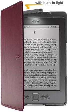 Funda de cuero con luz Amazon para Kindle, color púrpura (sólo ...