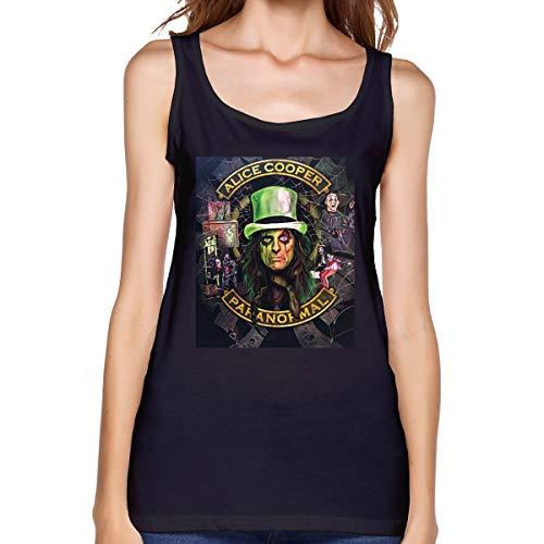 Women's Tank Top Alice Cooper Paranormal Sketch Tee Black]()